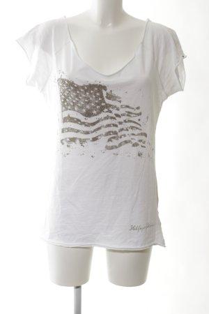 Hilfiger Denim Print-Shirt weiß Motivdruck Casual-Look
