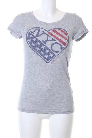 Hilfiger Denim Print-Shirt meliert Casual-Look