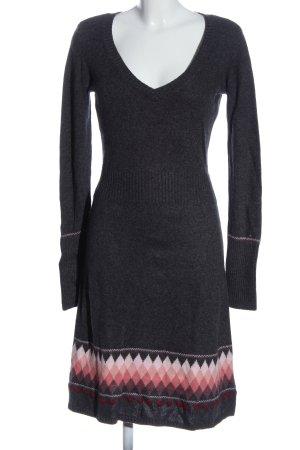 Hilfiger Denim Swetrowa sukienka jasnoszary-różowy Graficzny wzór