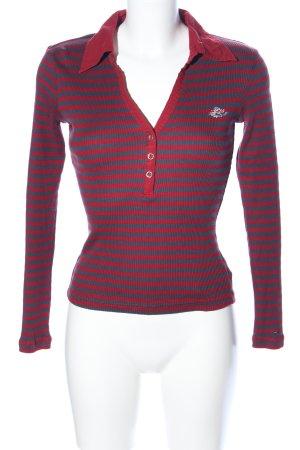 Hilfiger Denim Camisa acanalada rojo-gris claro estampado a rayas look casual