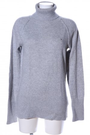 Hilfiger Denim Turtleneck Sweater light grey flecked casual look