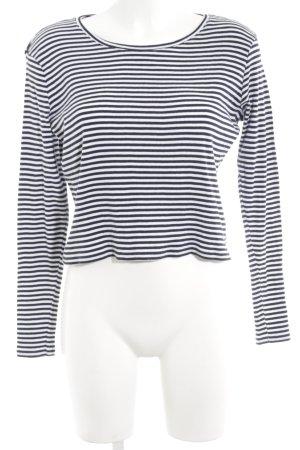 Hilfiger Denim Rundhalspullover weiß-dunkelblau Streifenmuster Casual-Look