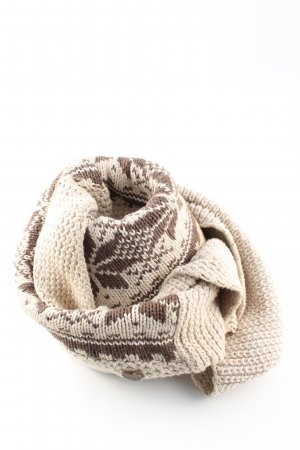 Hilfiger Denim Tube Scarf brown-cream graphic pattern casual look