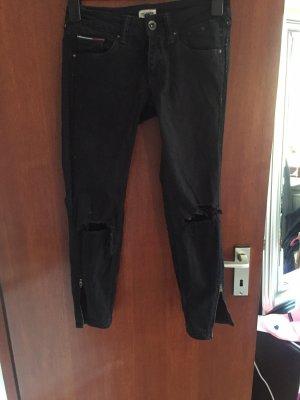 Hilfiger Denim Jeans a 7/8 nero Cotone