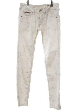 Hilfiger Denim Skinny Jeans creme Blumenmuster Casual-Look