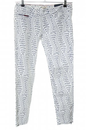 Hilfiger Denim Skinny Jeans blau-weiß Allover-Druck Casual-Look