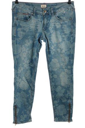 Hilfiger Denim Skinny Jeans blau abstraktes Muster Casual-Look