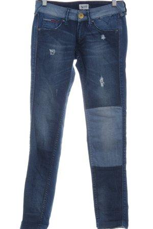 Hilfiger Denim Skinny Jeans blau Used-Optik