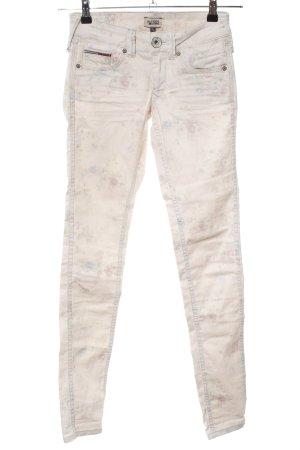 Hilfiger Denim Skinny Jeans wollweiß Blumenmuster Casual-Look