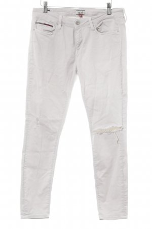 Hilfiger Denim Skinny Jeans hellgrau Destroy-Optik