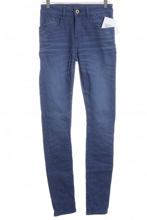 Hilfiger Denim Skinny Jeans weiß-dunkelblau Punktemuster Casual-Look