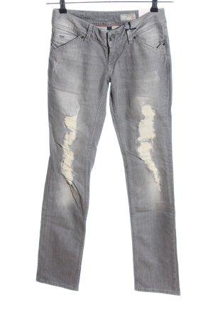 Hilfiger Denim Straight-Leg Jeans hellgrau Casual-Look