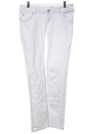 Hilfiger Denim Jeans met rechte pijpen wit casual uitstraling