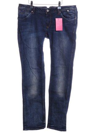 Hilfiger Denim Jeans met rechte pijpen blauw casual uitstraling