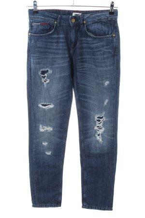 Hilfiger Denim Straight-Leg Jeans blau Street-Fashion-Look