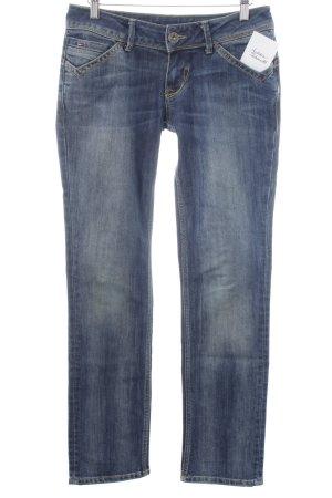 Hilfiger Denim Jeansy z prostymi nogawkami niebieski Sprane wykończenie