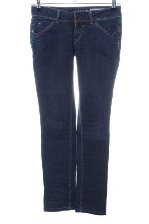 Hilfiger Denim Jeans a gamba dritta blu scuro Tessuto misto