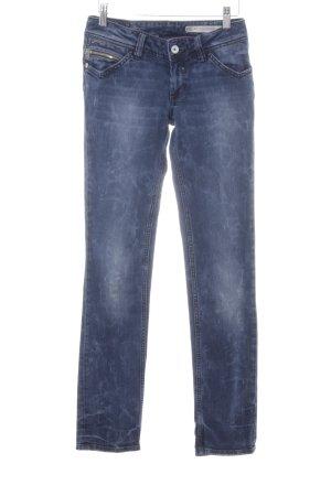 Hilfiger Denim Straight-Leg Jeans dunkelblau-graublau Washed-Optik
