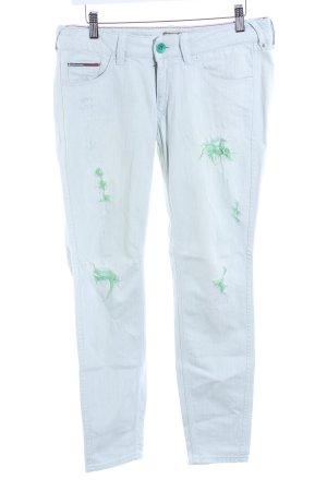 Hilfiger Denim Straight-Leg Jeans mint Logo-Applikation