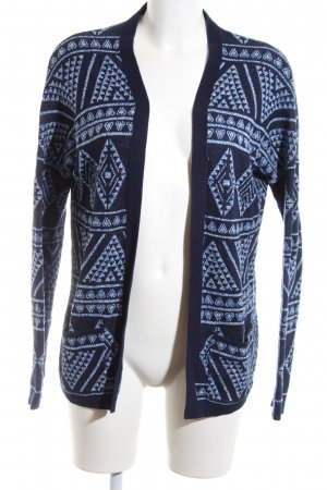 Hilfiger Denim Strick Cardigan schwarz-blau Allover-Druck Casual-Look