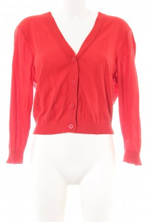 Hilfiger Denim Strick Cardigan rot Casual-Look