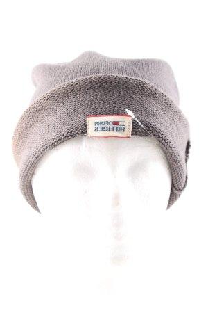 Hilfiger Denim Cappello a maglia grigio chiaro punto treccia stile casual