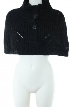Hilfiger Denim Strickponcho schwarz Casual-Look