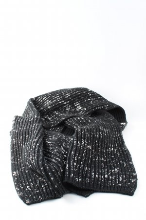 Hilfiger Denim Knitted Scarf black-white allover print casual look