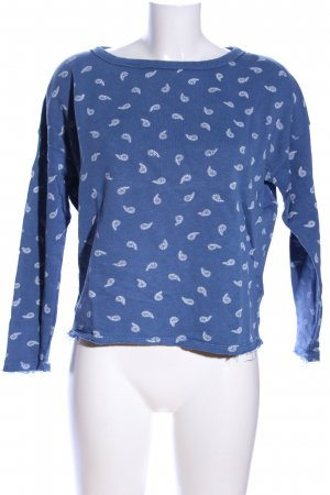 Hilfiger Denim Sweatshirt blau-weiß Allover-Druck Casual-Look