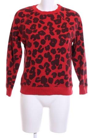 Hilfiger Denim Sweatshirt rot-schwarz Allover-Druck Casual-Look