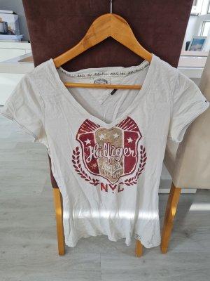 Hilfiger Denim T-Shirt white-dark red