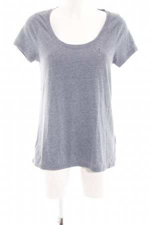 Hilfiger Denim T-Shirt hellgrau meliert Casual-Look