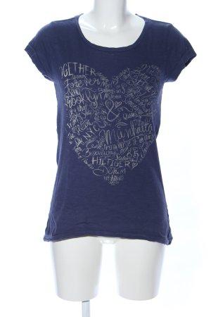 Hilfiger Denim T-Shirt blau-hellgrau Motivdruck Casual-Look