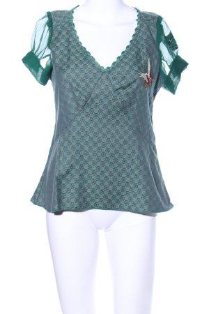 Hilfiger Denim T-Shirt grün-bronzefarben Allover-Druck Casual-Look