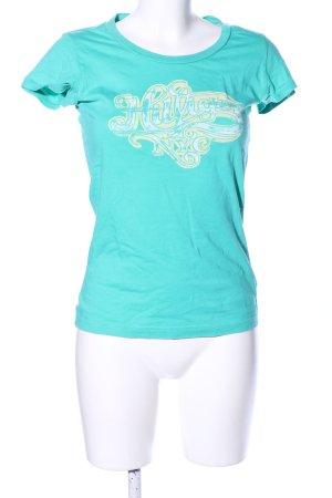 Hilfiger Denim T-Shirt türkis Motivdruck Casual-Look