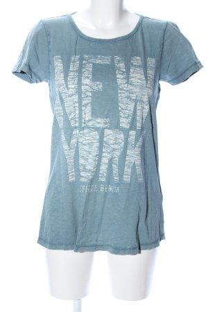 Hilfiger Denim T-Shirt blau meliert Casual-Look