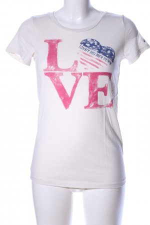 Hilfiger Denim T-Shirt weiß Motivdruck Casual-Look