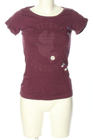 Hilfiger Denim T-Shirt pink Motivdruck Casual-Look