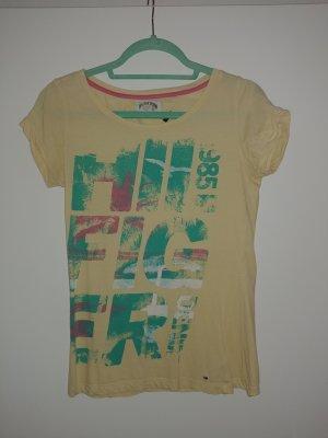 Hilfiger Denim T-Shirt gelb mit Print Gr. M