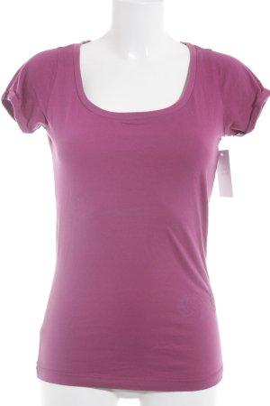 Hilfiger Denim T-Shirt violett Casual-Look
