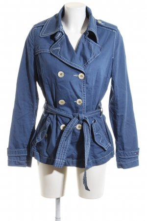 Hilfiger Denim Trenchcoat blau Business-Look