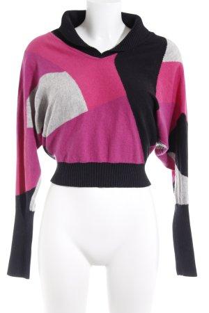 Hilfiger Denim V-Ausschnitt-Pullover abstraktes Muster Casual-Look