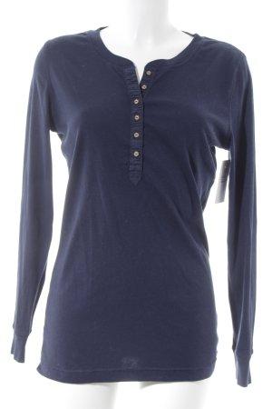 Hilfiger Denim V-Ausschnitt-Pullover dunkelblau schlichter Stil