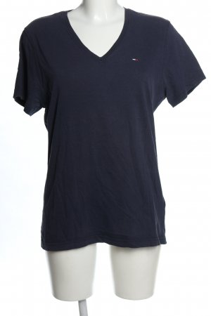 Hilfiger Denim Camisa con cuello V azul look casual