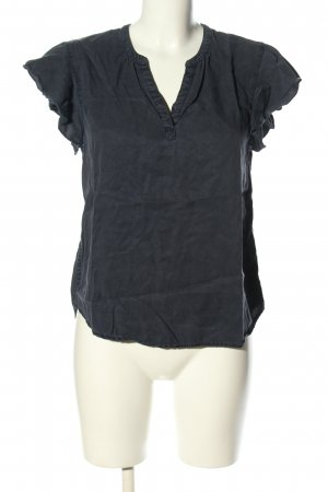 Hilfiger Denim V-Ausschnitt-Shirt schwarz Casual-Look