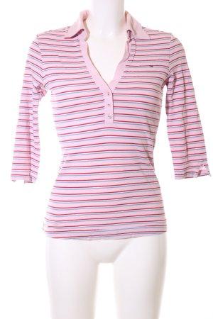 Hilfiger Denim V-Ausschnitt-Shirt Streifenmuster Casual-Look