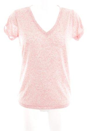 Hilfiger Denim V-Ausschnitt-Shirt pink meliert Casual-Look
