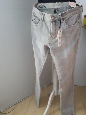 Tommy Hilfiger Denim Pantalon cinq poches gris clair