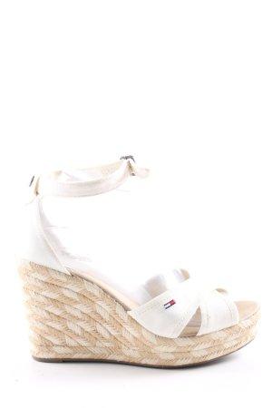 Hilfiger Denim Wedges Sandaletten weiß Casual-Look