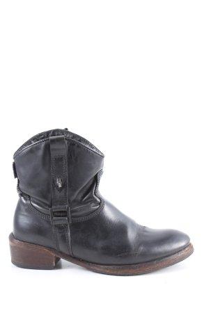Hilfiger Denim Buty w stylu western czarny-brązowy W stylu casual